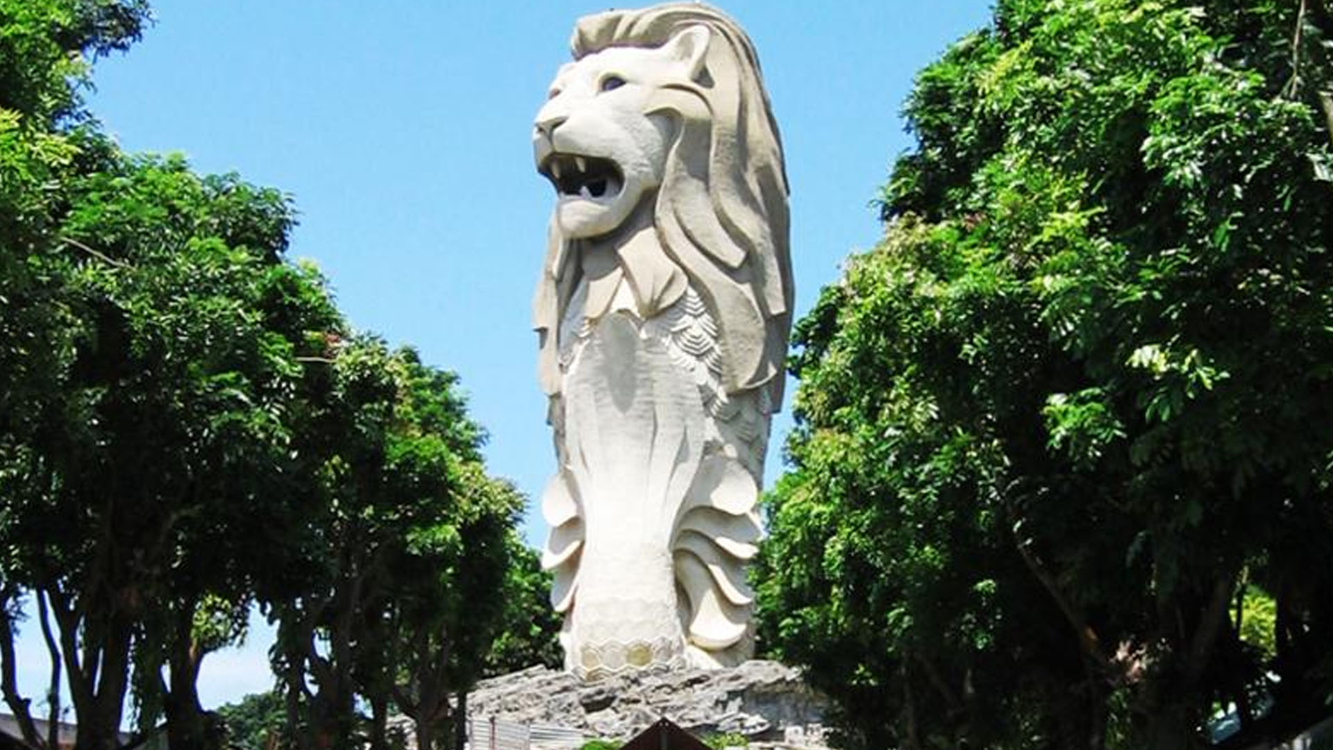 Merlion statue of Sentosa